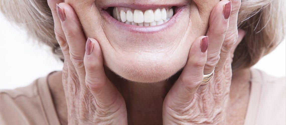 old women, denture
